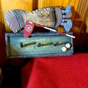 Golf bag key holder or necklace holder